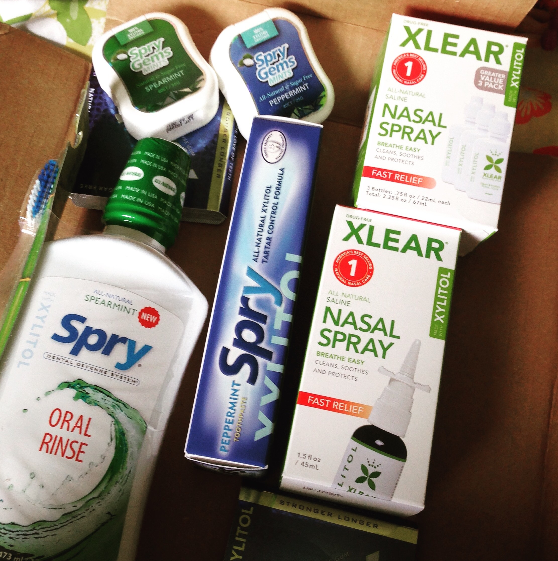 All the goodies included in my Xlear Care Kit!