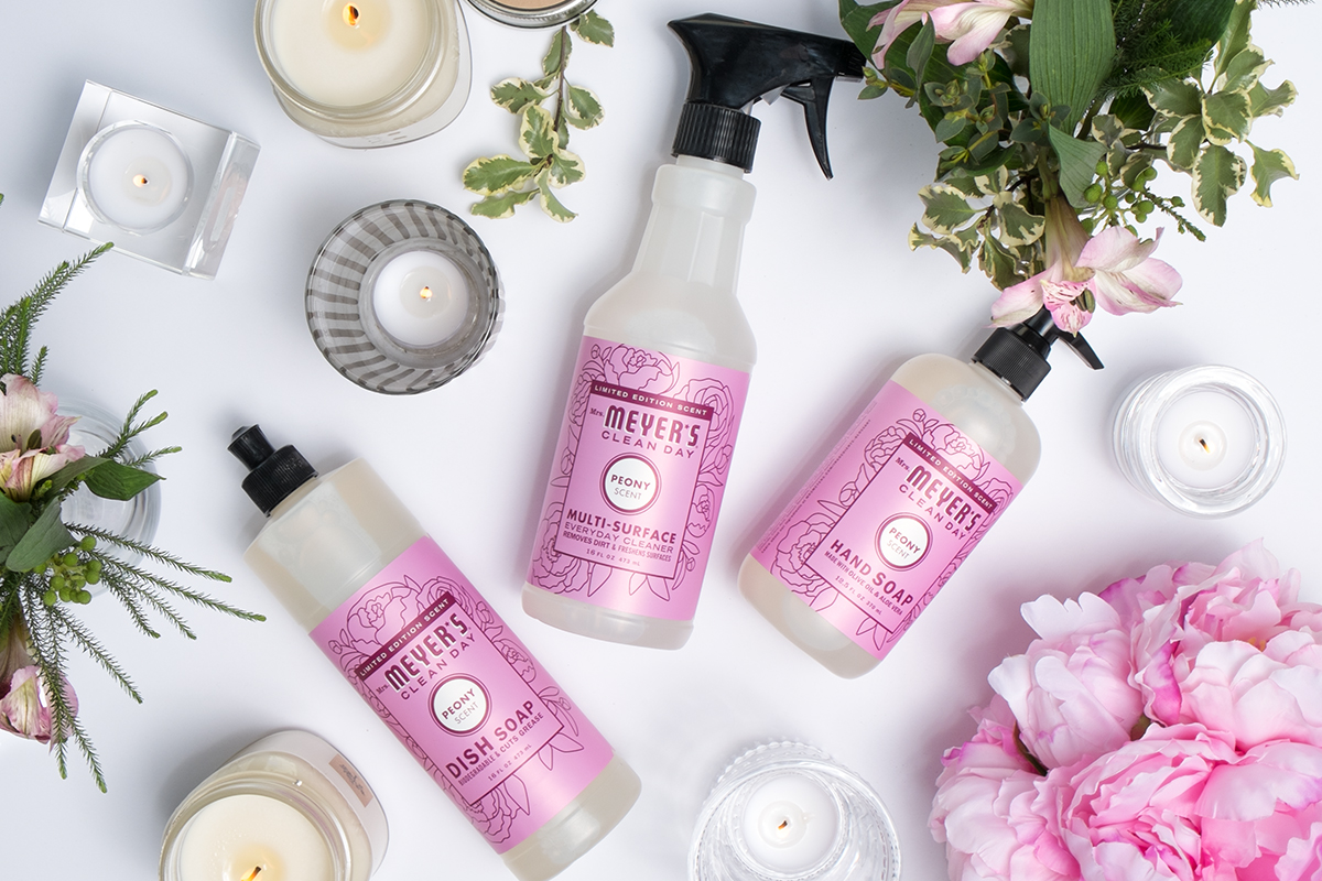 youu0027ll get a mrs meyeru0027s dish soap and hand soap in one of the limited edition spring scents a gorgeous grove glass spray bottle and the